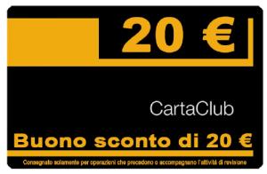 buono sconto 20 euro carta club